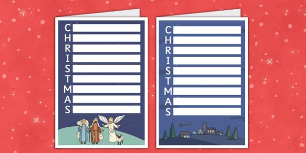 Acrostic Christmas Card - acrostic poem, christmas card, christmas, card, acrostic