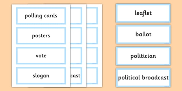 Welsh Assembly National Election 2016 Word Cards - welsh, cymraeg, Word Cards, Welsh Assembly National Election 2016, Labour, Conservatives, Liberal Democrats, Plaid Cymru