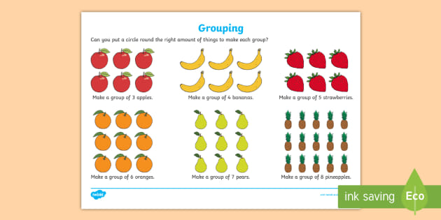 Grouping Worksheet / Worksheet - CfE, numeracy, grouping ...