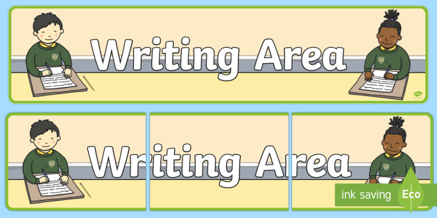 Writing Area Display Banner - Classroom Area Signs, Literacy, KS1, Banner, Foundation Stage Area Signs, Classroom labels, Writing Area Banner, Area Signs, Classroom Areas, Poster, Display, Areas, Literacy, Writing, CLL