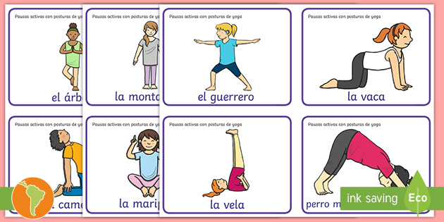 Pausas Activas Poses De Yoga Para Niños Teacher Made