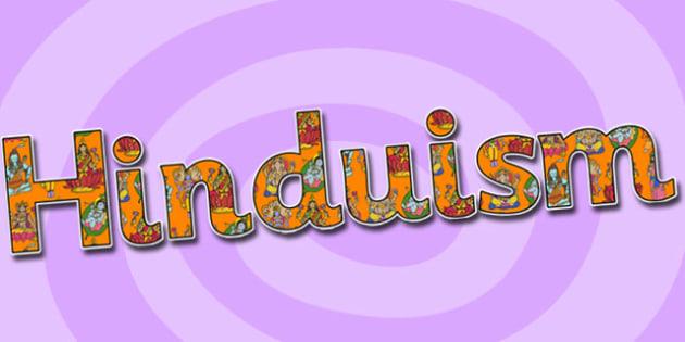 Hinduism Display Lettering-hinduism, display lettering, display, lettering, lettering for display, hinduism lettering, hindu, religion, RE