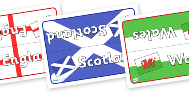 British Isles Flags Group Table Signs - British Isles Flags, Flags, British Isles, group signs, group labels, group table signs, table sign, teaching groups, class group, class groups, table label, British