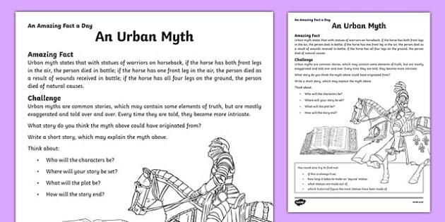 an urban myth worksheet activity sheet worksheet. Black Bedroom Furniture Sets. Home Design Ideas