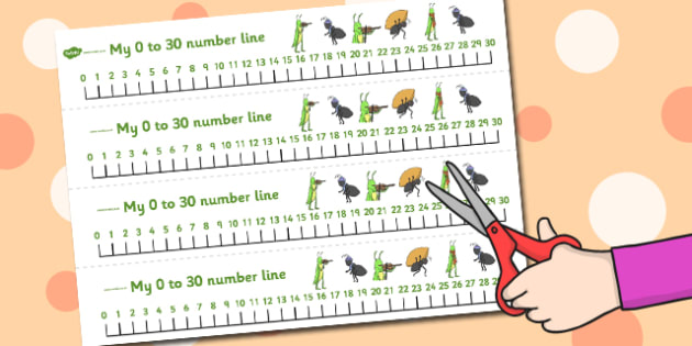 The Ant and the Grasshopper Number Lines 0-30 - Ant, Grasshopper