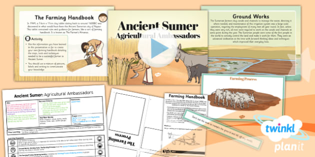 History: Ancient Sumer: Agricultural Ambassadors UKS2 Lesson Pack 6
