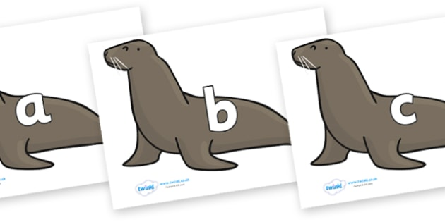 Phase 2 Phonemes on Sealions - Phonemes, phoneme, Phase 2, Phase two, Foundation, Literacy, Letters and Sounds, DfES, display