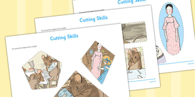 The Tale of Two Bad Mice Cutting Skills Worksheet - two bad mice