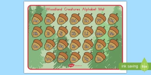 Woodland Creatures Alphabet Mat