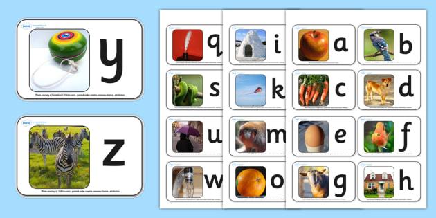 A-Z Alphabet Photo Mini Flash Cards - flash cards, flash, cards, flashcards, mini flashcards, small flashcards, mini flash cards, alphabet, alphabet small flash cards, alphabet mini flashcards, flashcard, key words, images