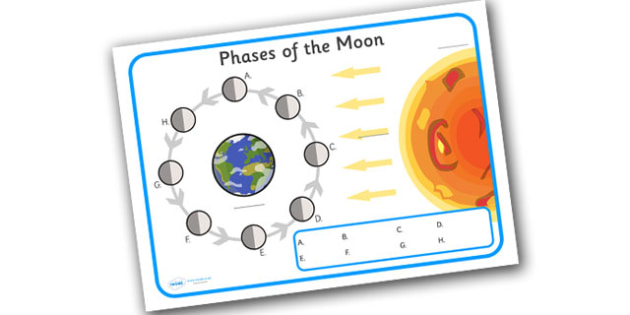 Phases of the Moon Labelling Worksheet - worksheets, worksheet, work sheet, sheets, activity, phases of the moon, the moon, moon, labelling, label worksheet, moon label worksheet, writing frame, filling in, writing activity
