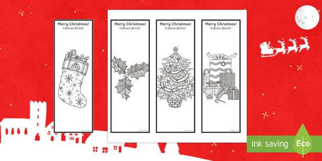Christmas Mindfulness Bookmarks English/Romanian - Christmas, Nativity, Jesus, xmas, Xmas, Father Christmas, Santa, bookmark, mindfulness, Romanian-tra