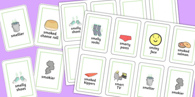 Three Syllable SM Playing Cards - speech sounds, phonology, articulation, speech therapy, cluster reduction, clusters, blends
