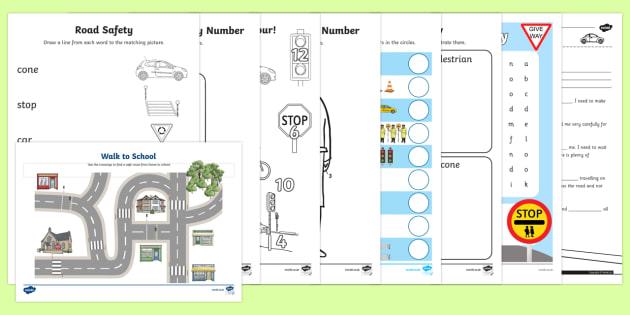 Top Ten KS1 Road Safety Week  Activity Pack