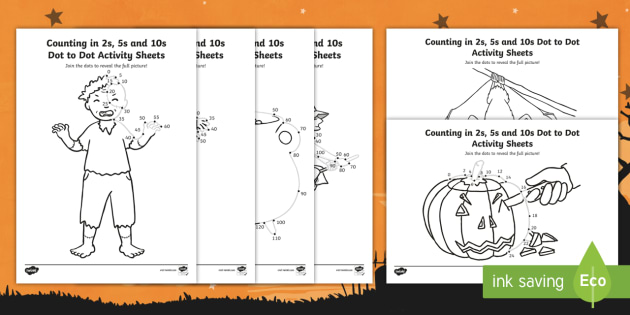 * NEW * Halloween Themed Counting In 2s, 5s And 10s Dot To