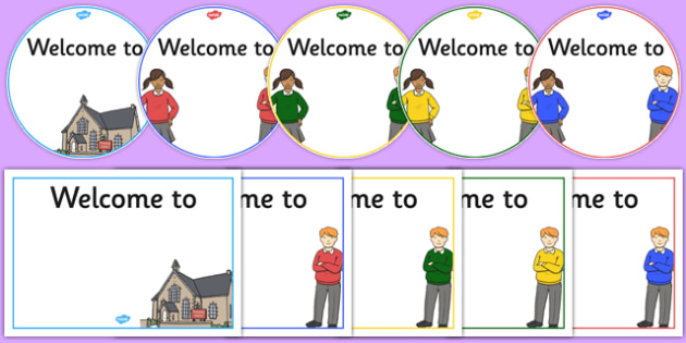 Editable Welcome Sign - editable, welcome sign, welcome, sign, display