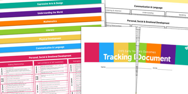 EYFS Early Years Outcomes Tracking Document 16 Months to ELG