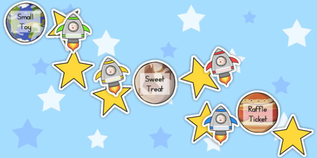 Space Class Display Reward Chart - rewards, displays, charts