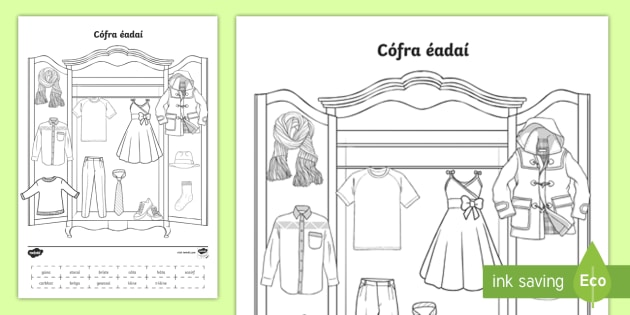 Clothes worksheet primary school
