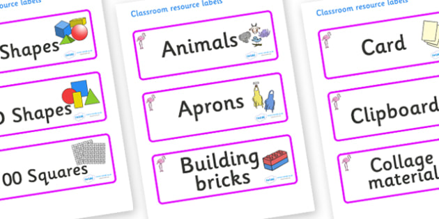 Flamingo Themed Editable Classroom Resource Labels - Themed Label template, Resource Label, Name Labels, Editable Labels, Drawer Labels, KS1 Labels, Foundation Labels, Foundation Stage Labels, Teaching Labels, Resource Labels, Tray Labels, Printable