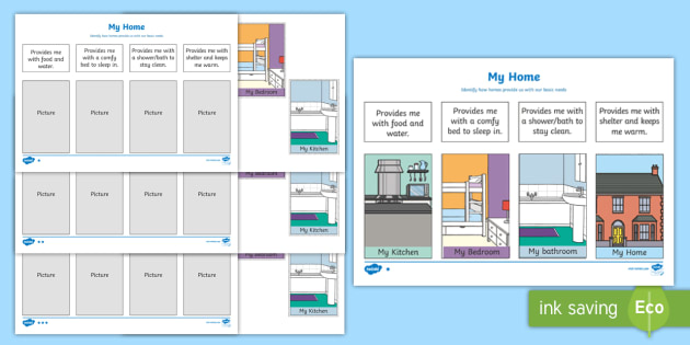 My Home Differentiated Worksheet Activity Sheets Eylf