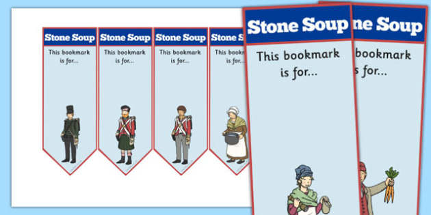 Stone Soup Editable Bookmarks - stone soup, bookmarks, editable