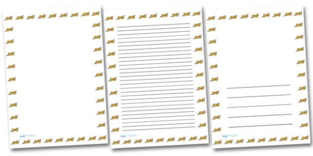 Christmas Small Bells Portrait Page Borders- Portrait Page Borders - Page border, border, writing template, writing aid, writing frame, a4 border, template, templates, landscape
