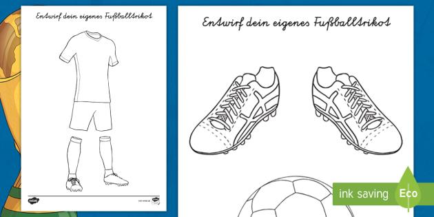 NEW * Entwirf dein eigenes Fußballtrikot Arbeitsblatt