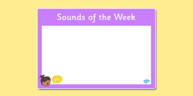 Sounds of the Week Poster - sounds, week, poster, display, sounds of the week