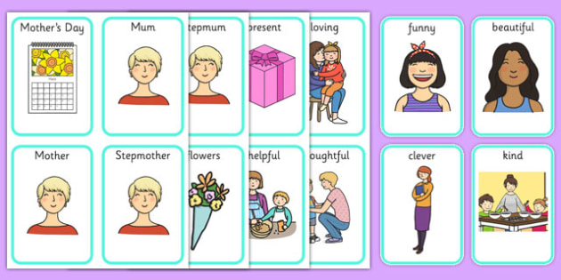 Mother's Day Playing Cards - mothers day, sen, playing cards, special educational needs