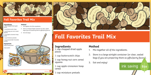 Fall Favorites Trail Mix Recipe