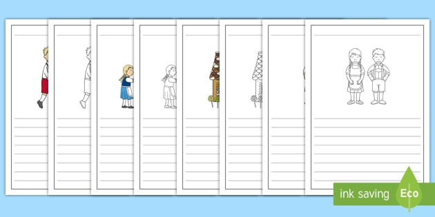 Hansel and Gretel Story Writing Frames - writing frames, story