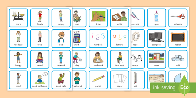 Nonverbal Communication Cards Pecs Special Education