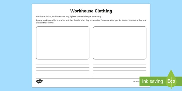t-h-135-ks1-workhouse-clothes-activity-sheet_ver_2 Victorian Clothes Worksheet Ks on