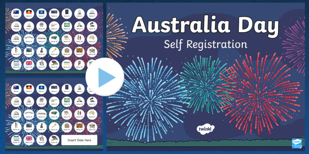 Australia Day Self-Reg PowerPoint - australia, self-reg, day