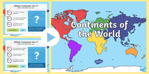 Continents of the world interactive powerpoint australian continents of the world interactive powerpoint australian curriculum hass achassk047 landforms gumiabroncs Image collections