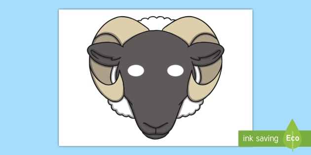 Sheep Mask Teacher Made