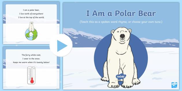I Am A Polar Bear Song Powerpoint Eyfs Early Years Polar