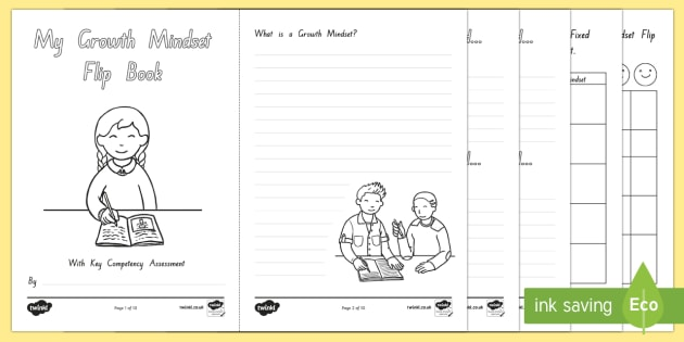 Growth Mindset with Key Competencies Flip Book Activity