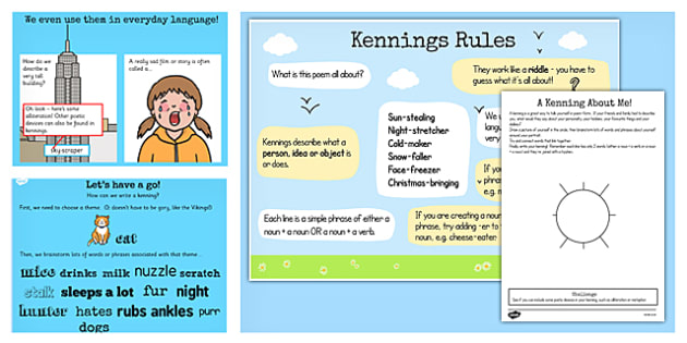 recognise different forms of poetry kennings lesson teaching pack