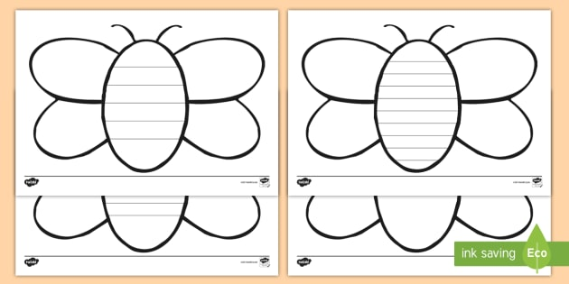 new bee writing template bee bees bee writing template