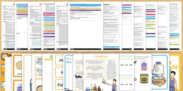 EYFS Pancake Day Adult Input Planning and Resource Pack - adult led, pack, Shrove Tuesday
