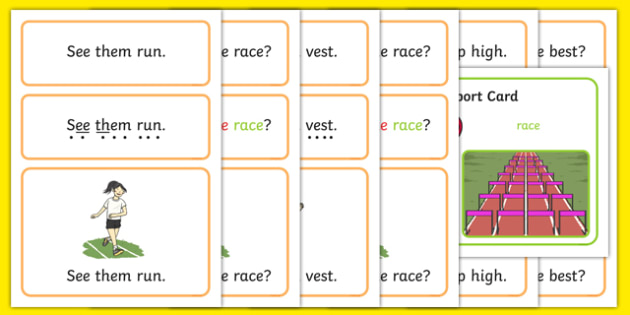 The Olympics Simple Sentence Cards