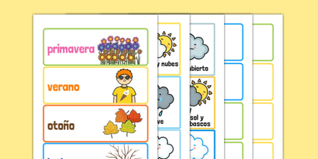 Ficha: Prueba sobre la Navidad - spanish, month, weather, season, calendar