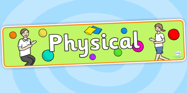 EYFS Learning Areas Physical Display Banner - physical banner, physical display banner, physical area banner, learning area banners, pe banner, eyfs banner