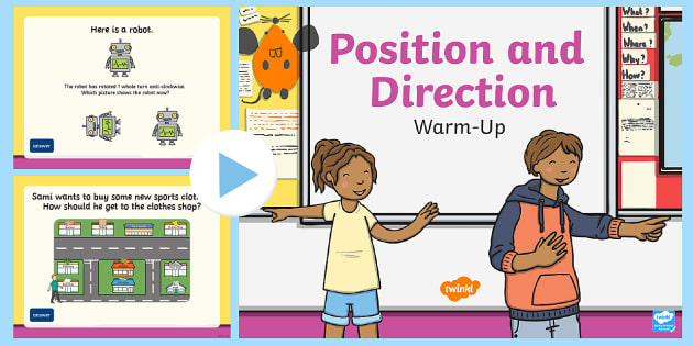 year 2 position and direction maths warm up powerpoint compass point. Black Bedroom Furniture Sets. Home Design Ideas