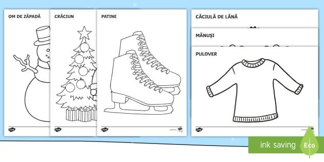 special pentru pantofi neînvins x ceas Imagini de iarnă Pagini de colorat (teacher made)