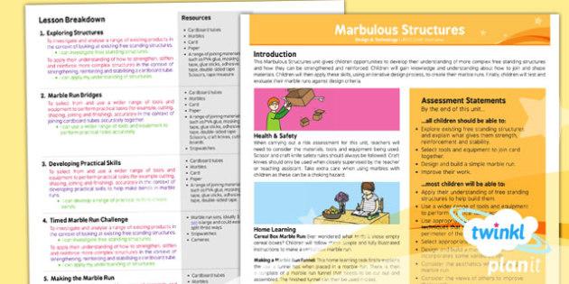 D&T: Marbulous Structures UKS2 Planning Overview