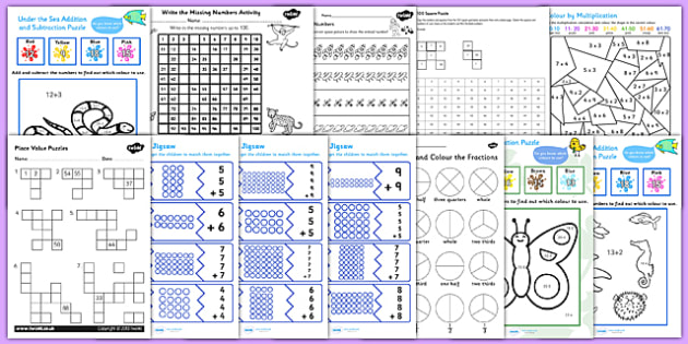 Ta Maths Puzzle Pack For Ks1 Teacher Made