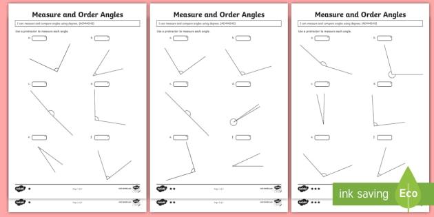 measure and order angles differentiated worksheet worksheets acmmg112. Black Bedroom Furniture Sets. Home Design Ideas